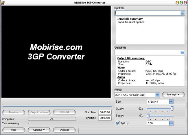 MobiRise MPEG to 3GP, AVI to 3GP Converter