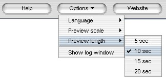 Setting a preview length in WMV to 3gp video converter