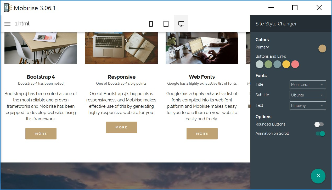 Simple Responsive Web Site Creator Software