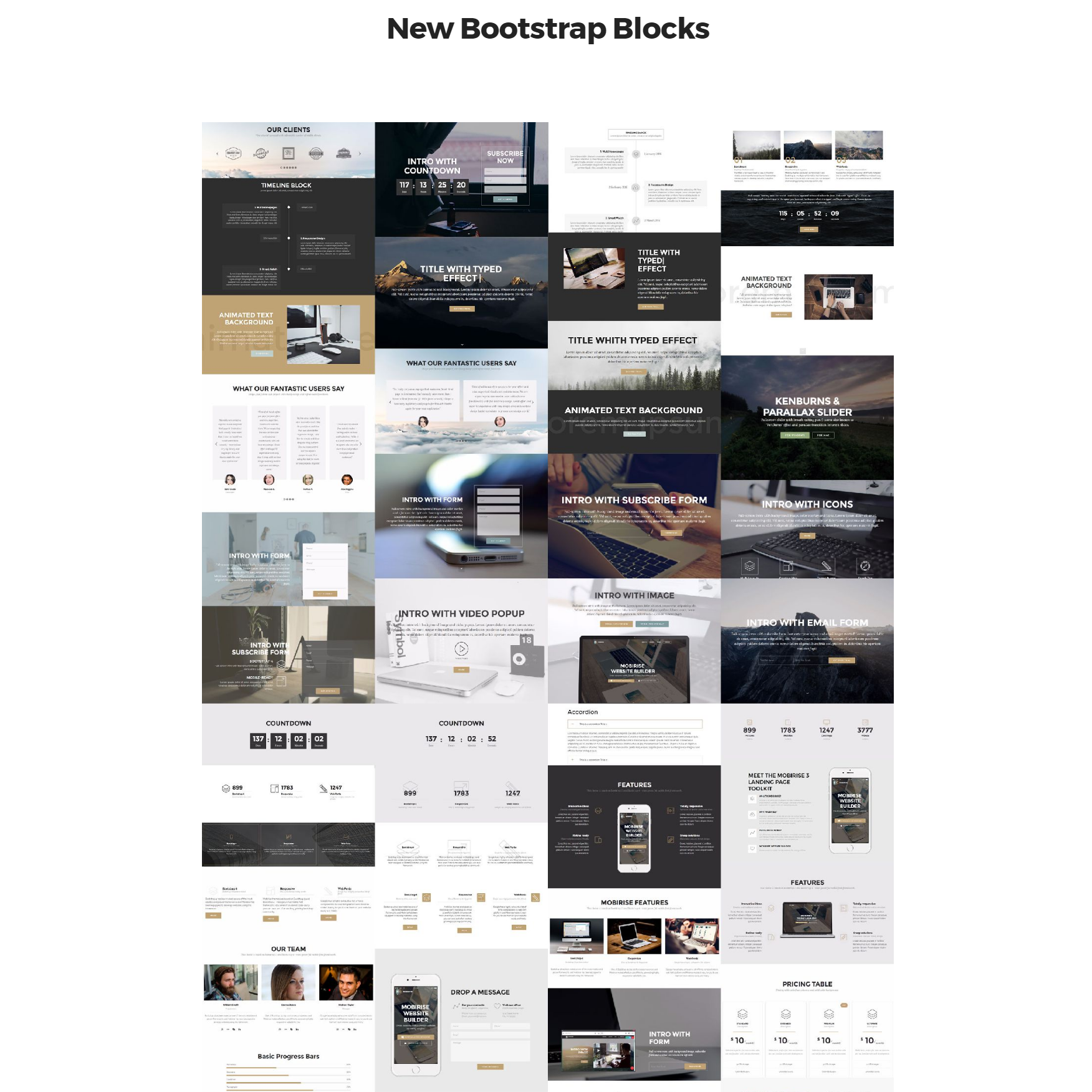 Free Bootstrap 4 mobile-friendly blocks Themes