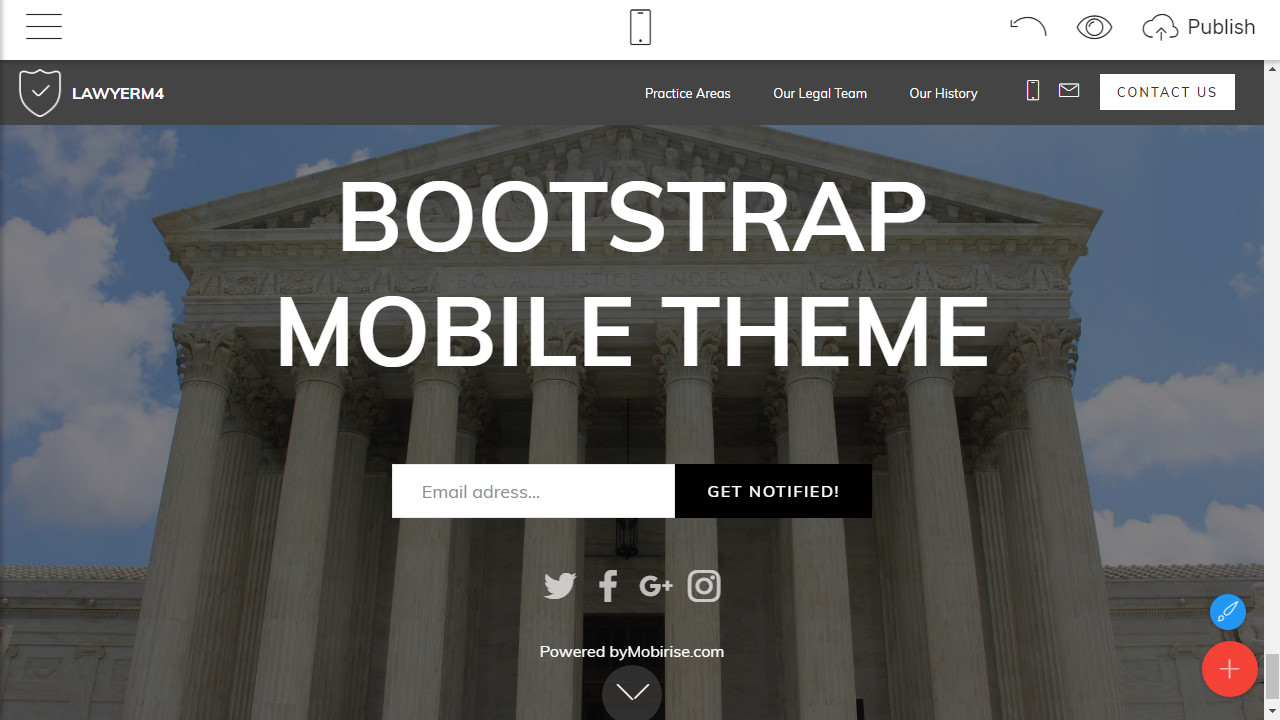 Responsive Mobile Template