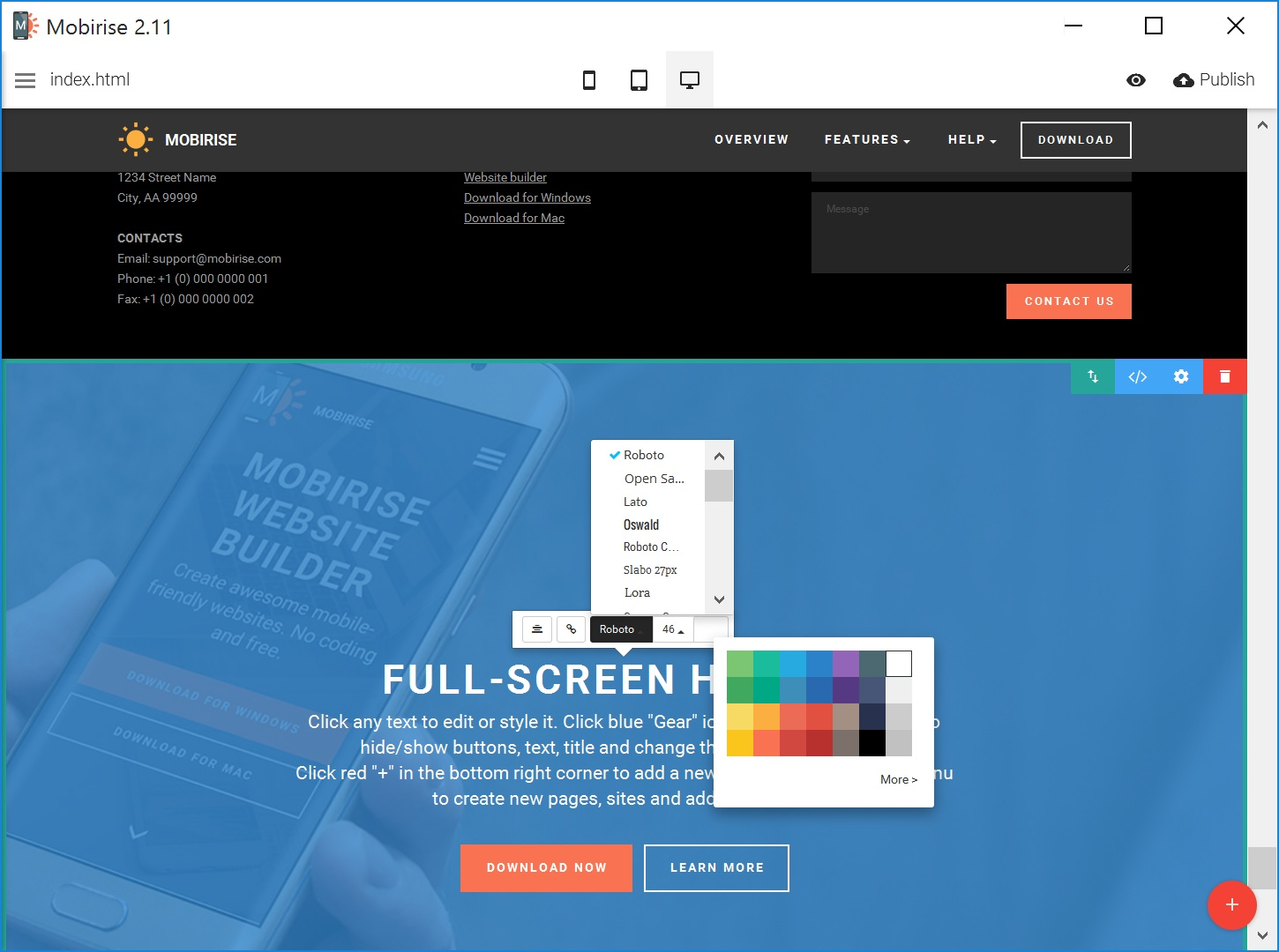 Best Responsive Web Page Creator